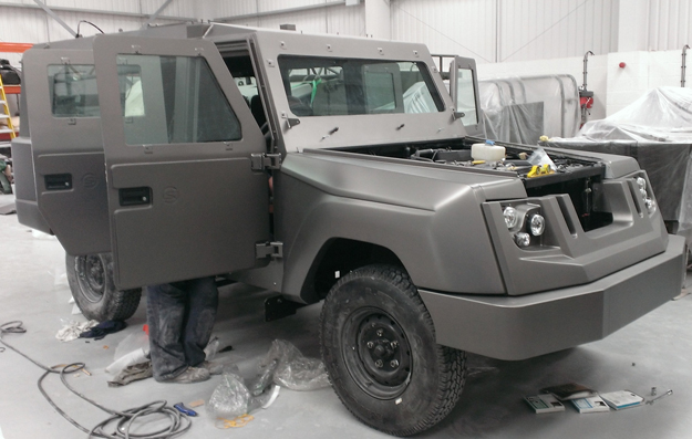 end design stages of the armoured vehicle