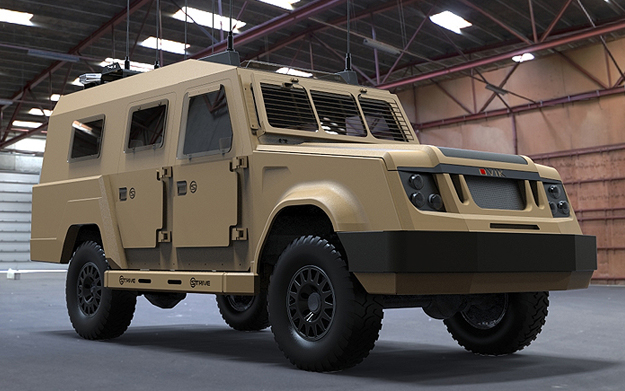 CGI image of the armoured vehicle